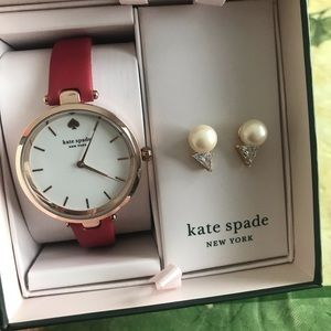 New Kate spade watch and earrings set